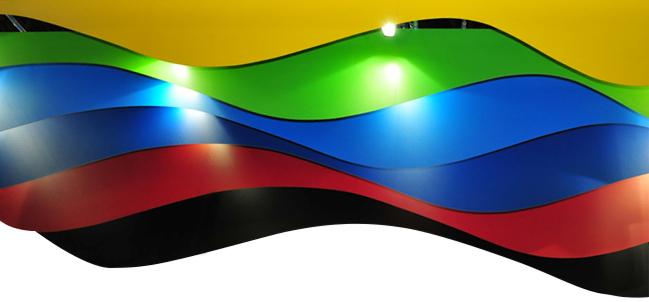 Foto Messestand Farben